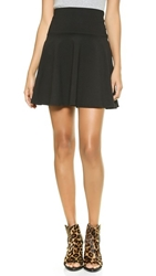 Susana Monaco High Waisted Flare Skirt Black