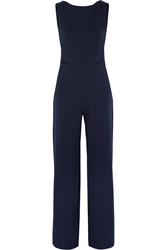 Saloni Jules Backless Crepe Jumpsuit