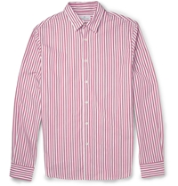 Hentsch Man Friday Striped Cotton Shirt Red