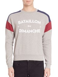 Commune De Paris Bataillon Heathered Sweater Grey