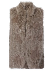 Derek Lam 10 Crosby Sleeveless Mid Lentgh Coat Nude And Neutrals