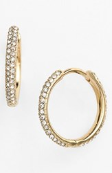 Women's Nadri Small Pave Hoop Earrings Gold Clear Nordstrom Exclusive