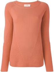 Allude Raglan Sleeve Sweater Yellow And Orange