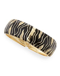 Wide Zebra Bangle Black Sequin