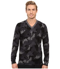 Nike Range Camo V Neck Sweater Dark Grey Heather Dark Grey Men's Sweater Gray
