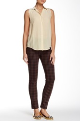 Sanctuary Grease Plaid Legging Red