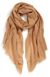 Women's Echo Solid Wool Wrap Beige Oatmeal