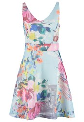 Derhy Ecrivain Summer Dress Bleu Blue