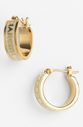 Marc By Marc Jacobs 'Classic Marc' Hoop Earrings Cream Gold