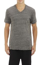 James Perse Square Graphic V Neck T Shirt Grey Size 4 Xl