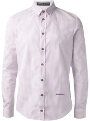 Frankie Morello Classic Check Shirt Pink And Purple