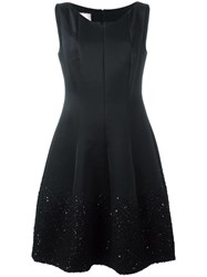 Talbot Runhof 'Gomma' Dress Black