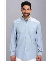 Nautica Solid Oxford L S Woven Shirt Petrol Men's Long Sleeve Button Up Gray
