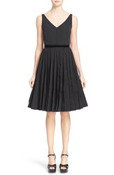 Women's Marc Jacobs Pleated Sleeveless Fit And Flare Dress