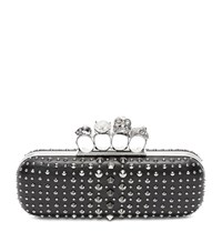 Alexander Mcqueen Studded Knuckle Box Clutch Female Black