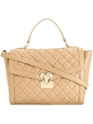Love Moschino Quilted Tote Brown