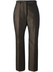 Jil Sander Tailored Cropped Trousers Green