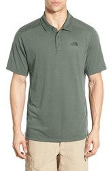 The North Face Men's 'Crag' Flashdry Polo Laurel Wreath Green