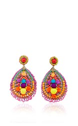 Ranjana Khan Embellished Drop Earrings Multi