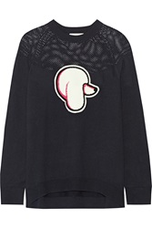 3.1 Phillip Lim Appliqued Cotton And Cashmere Blend Sweater