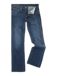 Levi's 527 Bootcut Mostly Mid Blue Jeans Denim