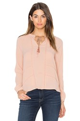 Greylin Trina Pleated Blouse Peach
