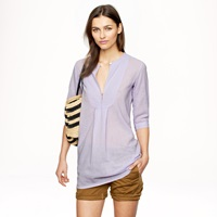J.Crew Bib Tunic In Gauze