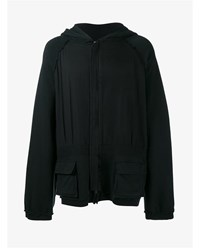 Haider Ackermann Perth Oversized Zipped Hoodie Black
