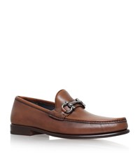 Salvatore Ferragamo Mason Horsebit Loafers Male Tan