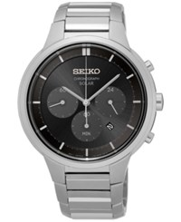 Seiko Men's Solar Chronograph Stainless Steel Bracelet Watch 42Mm Ssc439 No Color