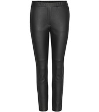 Bottega Veneta Leather Trousers Black