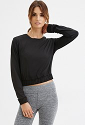 Forever 21 Athletic Pullover Black Fiery Red