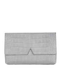 Vince Signature Croc Clutch Bag Female Chambray