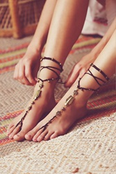 Free People Macrame Anklet Duo