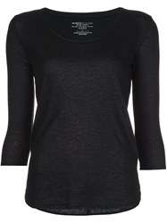 Majestic Filatures Round Neck Fine Knit Jumper Black