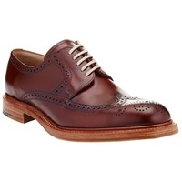 John Lewis And Co. Made In England Leather Brogue Derby Shoes Oxblood