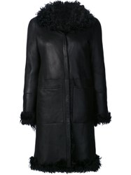 Proenza Schouler Reversible Shearling Coat Black