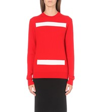 Plys Striped Wool Jumper Red White