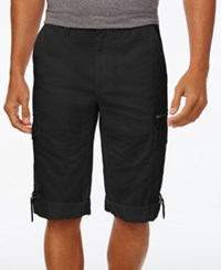 Inc International Concepts Men's Sway Messenger Shorts Only At Macy's Deep Black