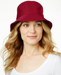 Nine West Rain Bucket Hat Burgundy
