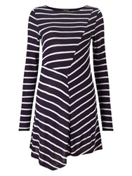 Phase Eight Cutabout Stripe Top Navy