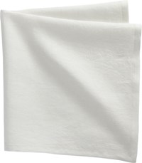 Cb2 Set Of 4 Bolt White Linen Napkins