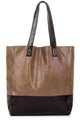 Oasis Leather Shopper Bag Black Multi