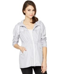 A Pea In The Pod Maternity Drawstring Hooded Jacket Grey