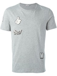 Moncler Stickers T Shirt Grey