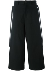 Damir Doma Wide Legged Cropped Trousers Black
