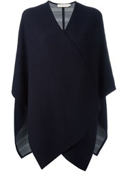 Tory Burch Knitted Cape Cardigan Blue