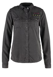 Superdry Shirt Washed Black Anthracite