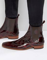 Jeffery West Scarface Leather Chelsea Boot Red