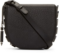 Mackage Black Pebbled Leather Rima Satchel